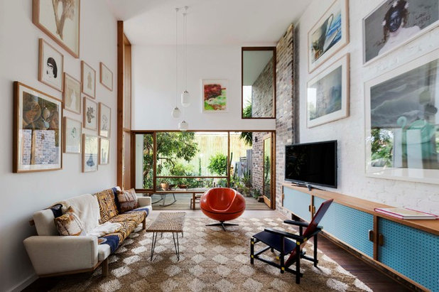 Eclectic Living Room by David Boyle Architect