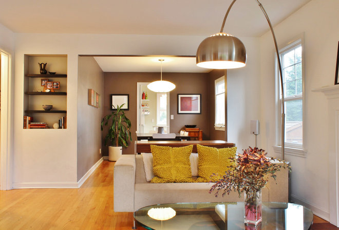 Contemporary Living Room by Kimberley Bryan