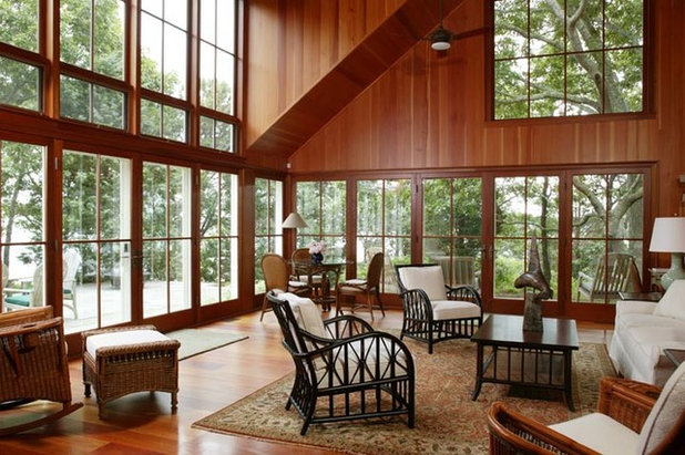 Traditional Living Room by Frank Shirley Architects