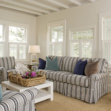 Beach Style Living Room by Schranghamer Design Group, LLC