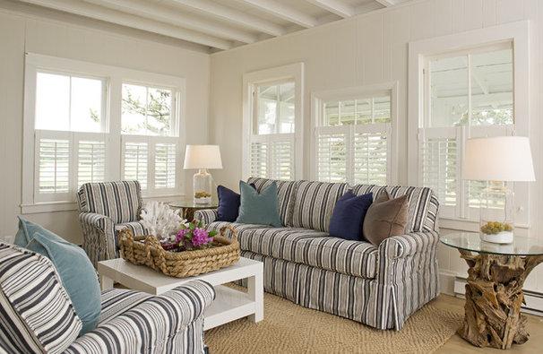 Beach Style Living Room by Schranghamer Design Group, LLC