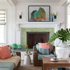 Beach Style Living Room by Brooks and Falotico Associates, Inc.