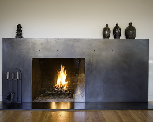 Blackened Steel Fireplace Surround | Houzz