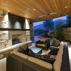 Transitional Living Room by Greenwood Homes