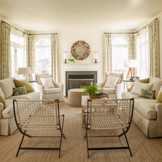 Contemporary Living Room by Lauren Liess Interiors