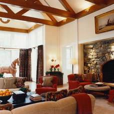 Traditional Living Room by BROWN DAVIS INTERIORS, INC.