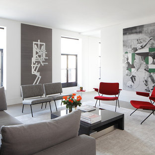 Red And Gray Living Room Ideas Photos Houzz