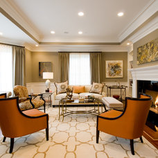 Transitional Living Room by Donahue Paye Interior Design