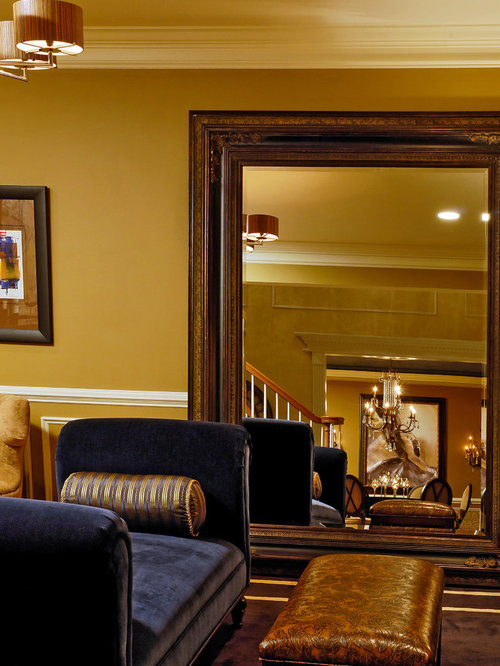 Inspiration For A Timeless Living Room Remodel In DC Metro With Yellow Walls