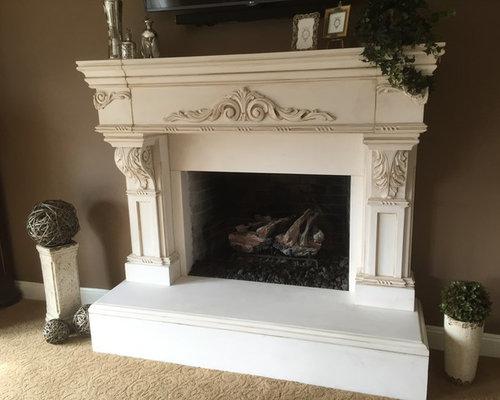 Master Bedroom Fireplace Mantel Addition
