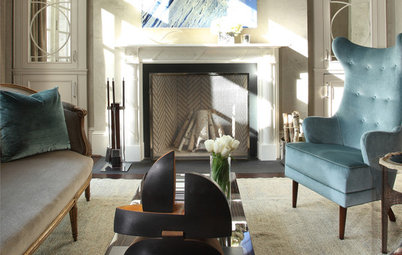 Room of the Day: High Eclectic Style in a Luxe Sitting Room