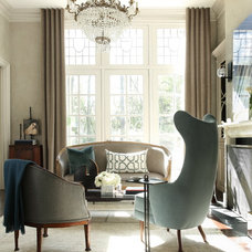 Transitional Living Room by Peace Design