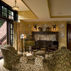 Traditional Living Room by Marie Meko, Allied ASID