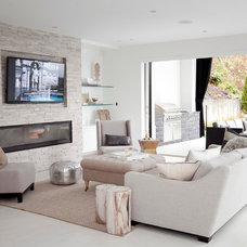 Contemporary Living Room by The Cross Design