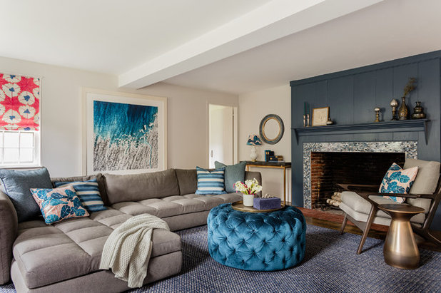 Farmhouse Living Room by ACQUIRE