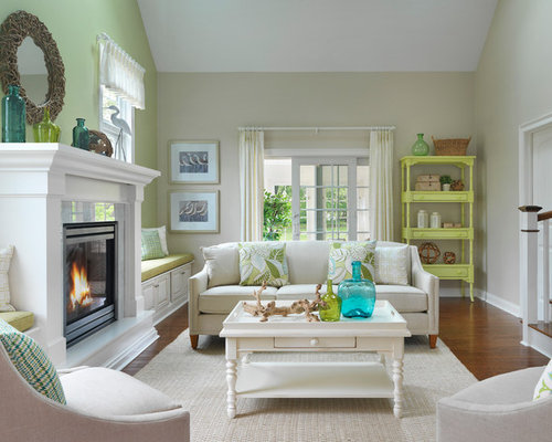green accent wall houzz