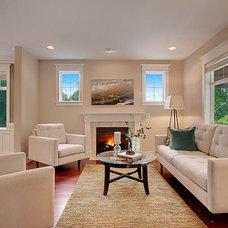 Craftsman Living Room by Lisa Lucas Design