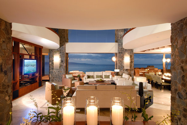 Tropical Living Room by James LeCron