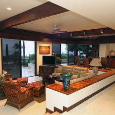 Contemporary Living Room by Paul M. Donoho, Architect, LLC