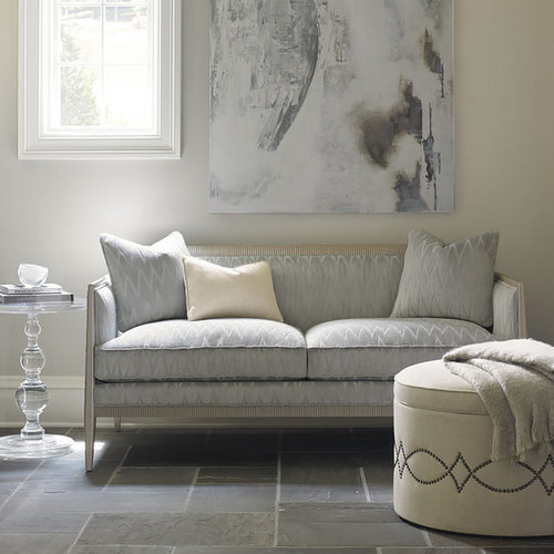 Design Ideas For A Small Contemporary Enclosed Living Room In Sydney With White Walls And Slate