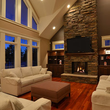 Traditional Living Room by Craftsman Construction