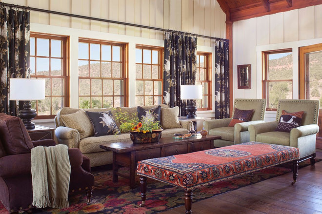rustic living room by Ashley Campbell Interior Design