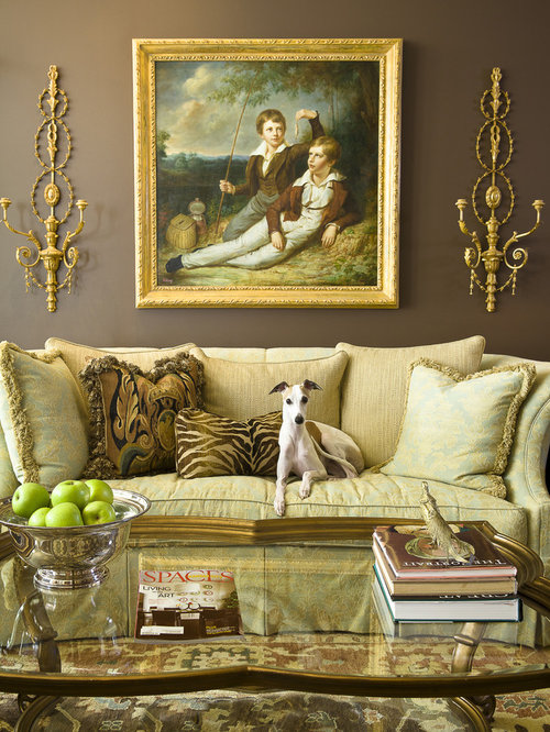 Chocolate And Gold Living Room Ideas & Photos | Houzz
