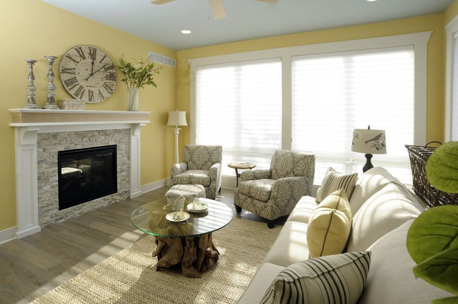 Traditional Living Room by Weaver Custom Homes