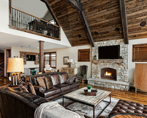 Vintage wood pulley houzz for 2nd living room ideas