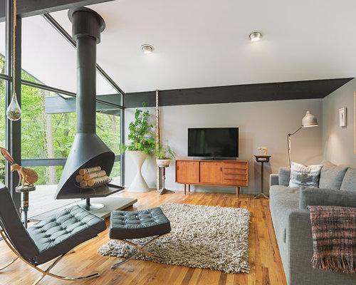 SaveEmail - Midcentury Modern Living Room Houzz
