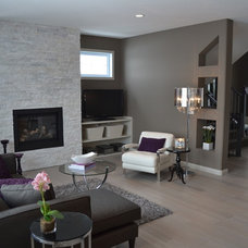 Transitional Living Room by McGonigal Signature Homes