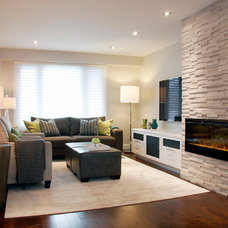 Contemporary Living Room by Staples Design Group