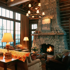 Rustic Living Room by MILLER ARCHITECTS PC