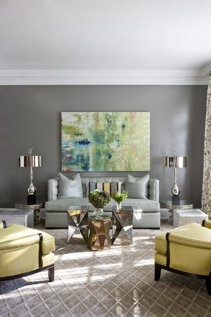 Transitional Living Room by 2 Ivy Lane