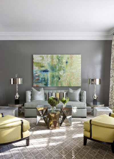 Transitional Living Room by Ivy Lane Living