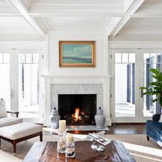 Beach Style Living Room by Christine Huvé Interior Design