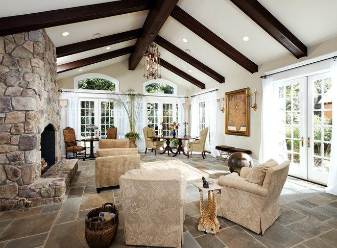 Traditional Living Room by Lori Shaffer