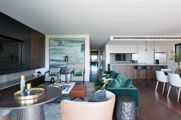 Contemporary Living Room by Woods & Warner