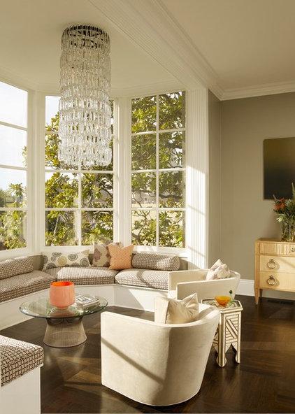 Eclectic Living Room by Steven Miller Design Studio, Inc.