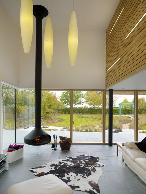 Floating Fireplace | Houzz