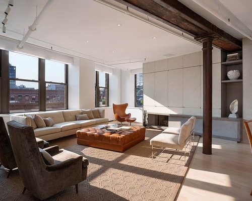 extraordinary new york loft living room | Loft Living Room | Houzz