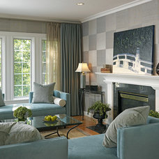 Eclectic Living Room by Laurie Gorelick Interiors