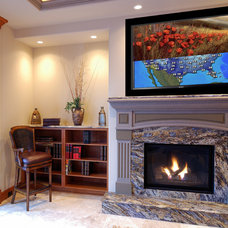 Traditional Living Room by Leon Speakers, Inc.