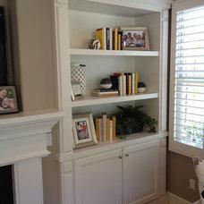 Contemporary Living Room by CustomBuilt-ins.com / CFM Company Inc.
