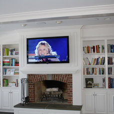 Traditional Living Room by Home Theater Solutions