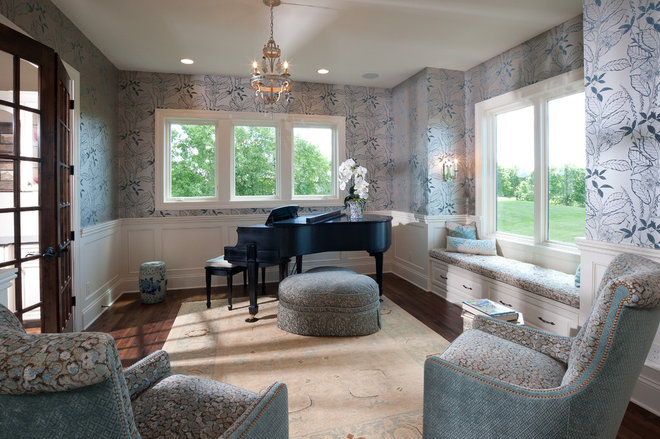 Traditional Living Room by Schrader & Companies