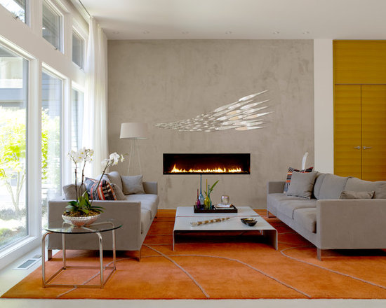 Linear Gas FireplaceLinear Gas Fireplace   Houzz. Modern Linear Fireplaces. Home Design Ideas