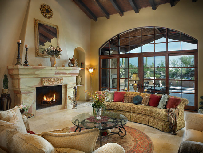 Mediterranean Living Room by Soloway Designs Inc | Architecture + Interiors