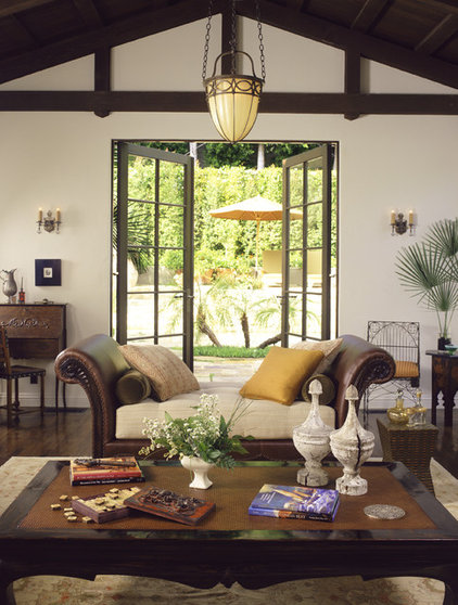 Mediterranean Living Room by Tommy Chambers Interiors, Inc.