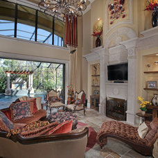Mediterranean Living Room by Weber Design Group, Inc.